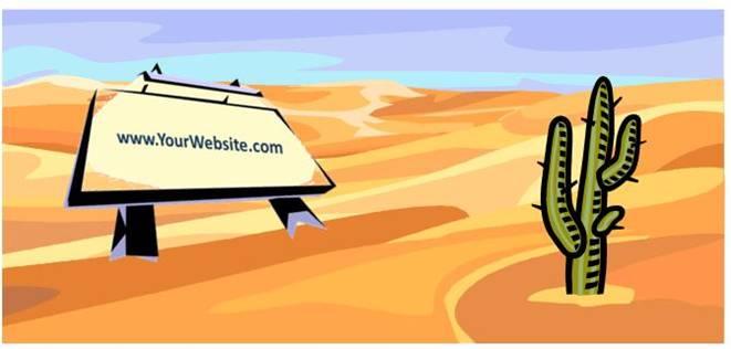 No website traffic?