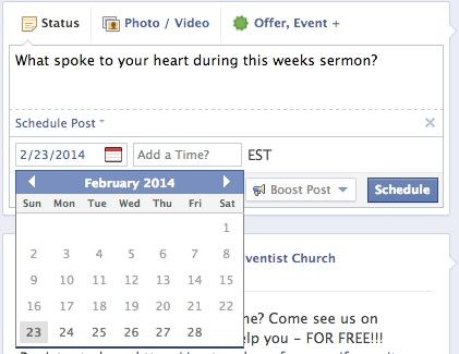 facebook scheduling