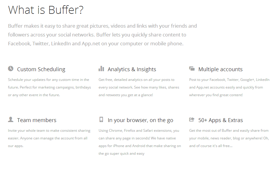 Buffer is another potential scheduling management tool.