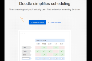Doodle easily allows you to contact everyone about your meeting.