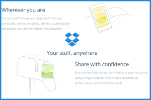 Keep everyone on the same page with a media sharing solution such as Dropbox.
